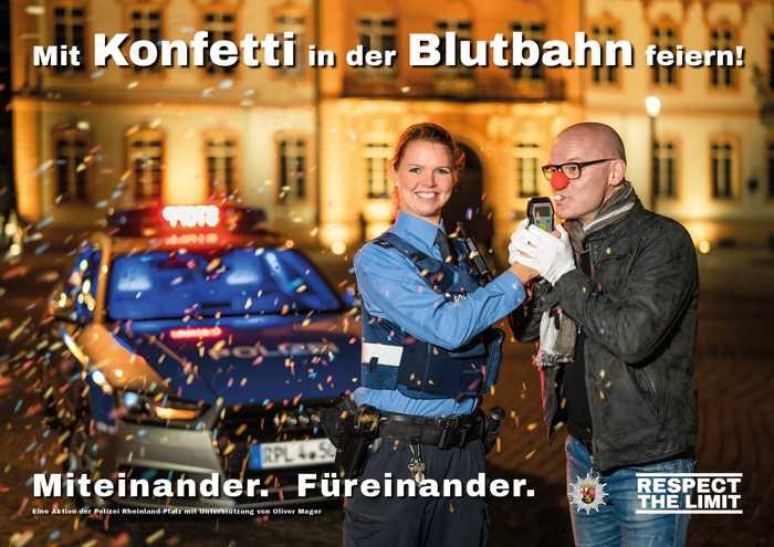 Symbol, Polizei, Fasching, RLP_Mit Konfetti in der Blutbahn