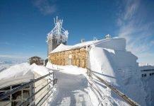 Wetterstation des Deutschen Wetterdienstes auf der Zugspitze (Quelle: DWD)