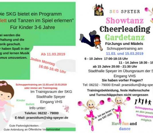 Flyer Schnuppertraining SKG