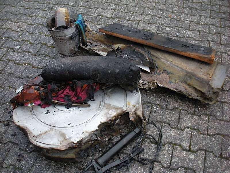 Das Brandgut (Foto: Presseteam der Feuerwehr VG Lambrecht)