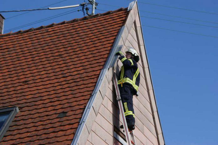 Sicherungsmaßnahmen (Foto. Presseteam der Feuerwehr VG Lambrecht)