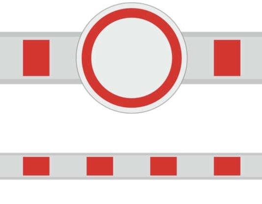 Symbolbild Straßensperrung