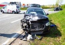 Unfallstelle in Alsheim, L438 Einmündung Gimbsheimer Str.