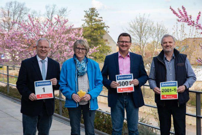 v.l.: Landrat Hans-Ulrich Ihlenfeld, Ute Turznik, Rolf Kley, Klaus Mattern (Foto: Kreisverwaltung Bad Dürkheim)