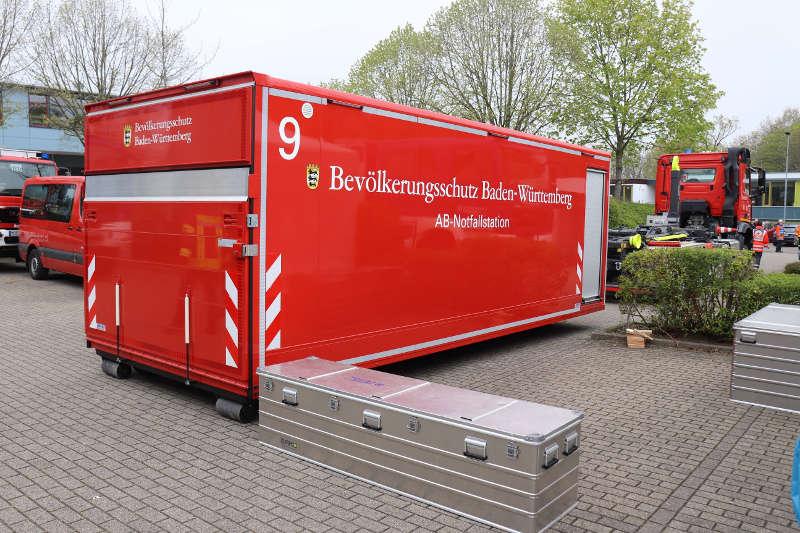 Container Notfallstation (Foto: Landratsamt Rhein-Neckar-Kreis)