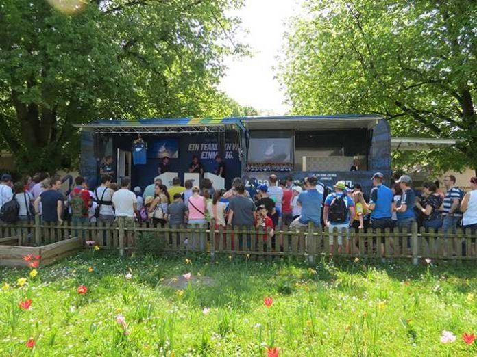 Der HOFFEXPRESS sorgt für Spiel, Spaß und gute Laune bei Fans und Zoobesuchern. (Foto: Zoo Heidelberg)