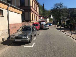Verkehrsunfall in der Weidenthaler Hauptstraße (Foto: Polizei RLP)