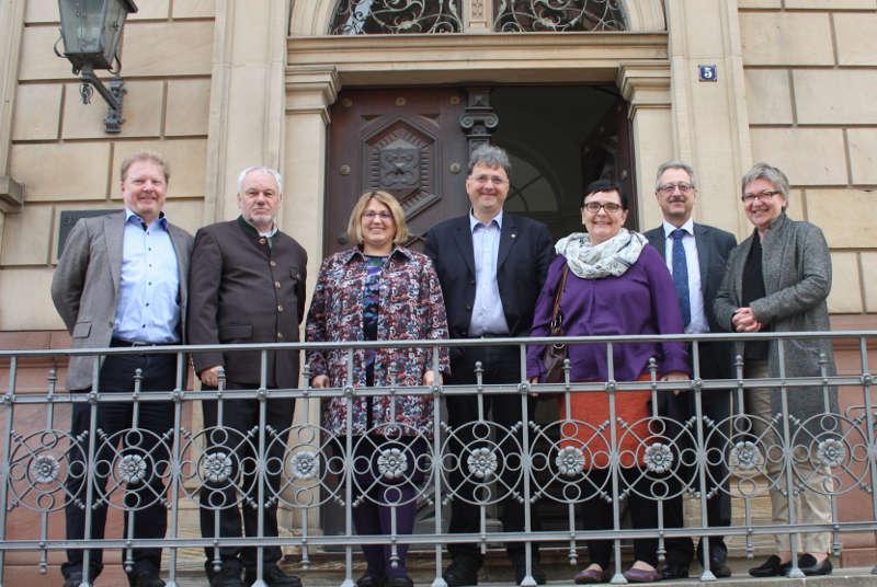 Thomas Niederberger, Karl Schiefermair (Österreich), Sabine Schönwetter (Österreich), Michael Landgraf, Monika Faes (Österreich), Manfred Sutter, Dorothee Wüst. (Foto: lk)