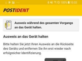 Screenshot Postident (Ausschnitt, Quelle: Deutsche Post DHL Group)