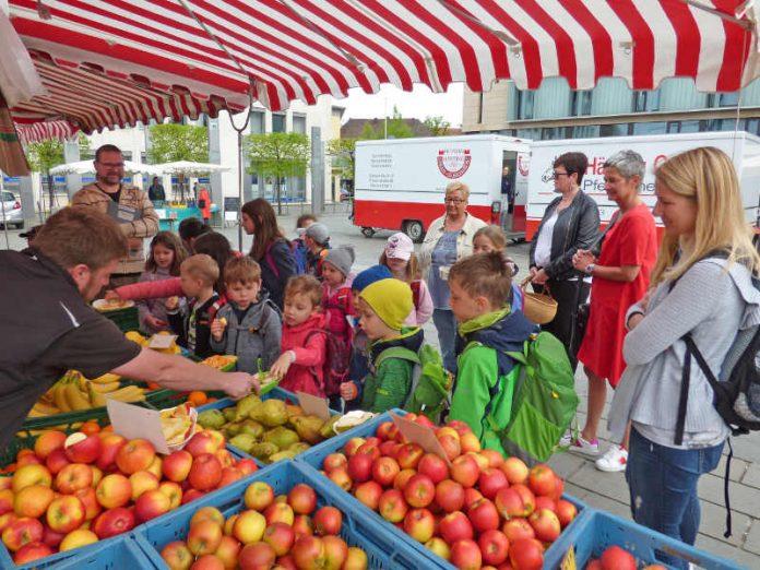 Wochenmarkt mit Kids in KL