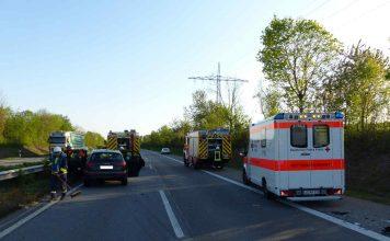 Die Einsatzstelle auf der BAB 65 (Foto: Feuerwehr Neustadt)