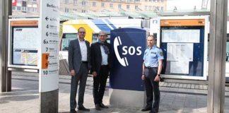 Notruf-Automat am Berliner Platz - Quelle: rnv AG