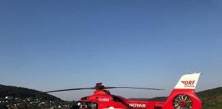Der Hubschrauberlandeplatz am Standort Mosbach der Neckar-Odenwald-Kliniken umgebaut. In dieser Zeit landen Rettungshubschrauber auf dem Sportplatz Bergfeld. (Foto: Neckar-Odenwald-Kliniken)