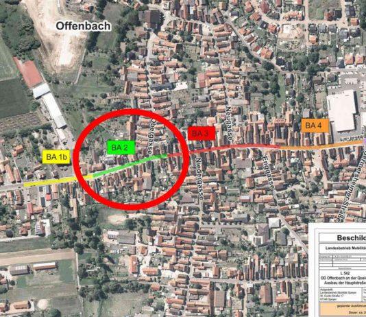 Skizze zur Übersicht der Bauphasen (Quelle: LBM Speyer)