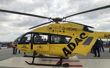 Christoph 77 nach der Landung auf dem Heli-Deck (Foto: Klinikum Darmstadt)