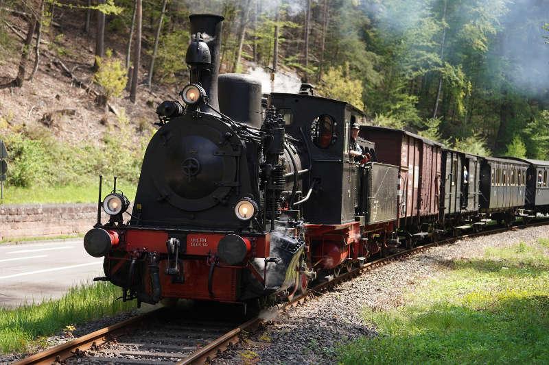 Die historische Dampfeisenbahn 'Kuckucksbähnel' (Foto: Holger Knecht)