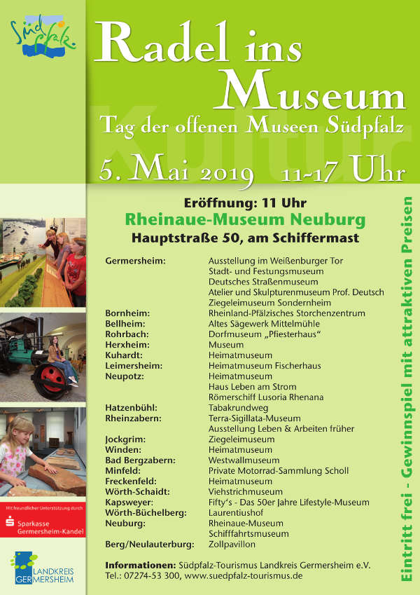 Plakat Radel ins Museum