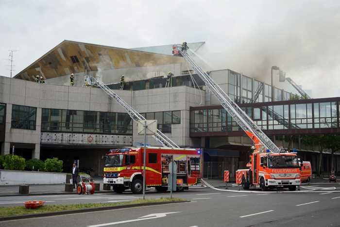 Feuerwehr Mainz: Dachbrand © Stadtverwaltung Mainz