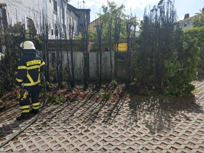 Heckenbrand in Bad Münster © Feuerwehr Bad Kreuznach