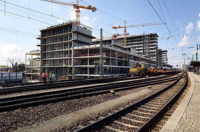 Die Dommermuth-Investition auf dem Areal Hauptbahnhof-Süd ist das derzeit größte Bauprojekt in Karlsruhe. (Foto: Müller-Gmelin)