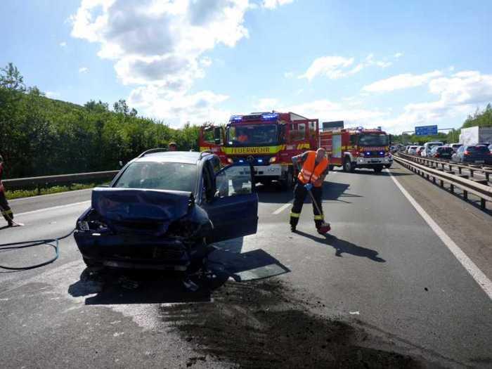 Mainz: Verkehrsunfall auf der A 60_© Stadtverwaltung Mainz