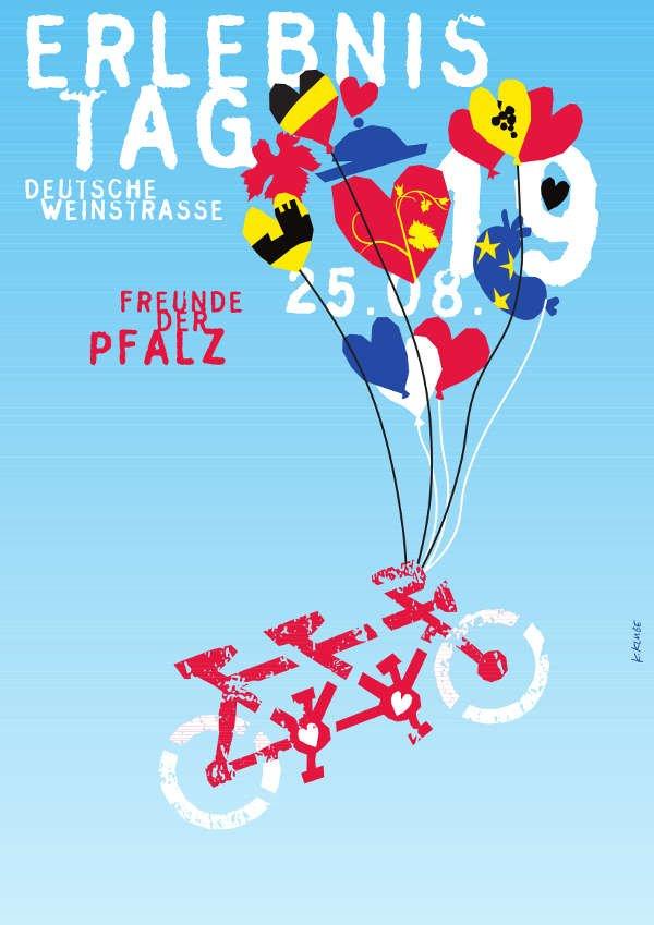 Plakat Erlebnistag Deutsche Weinstraße 2019 (Quelle: Pfalzwein e.V.)
