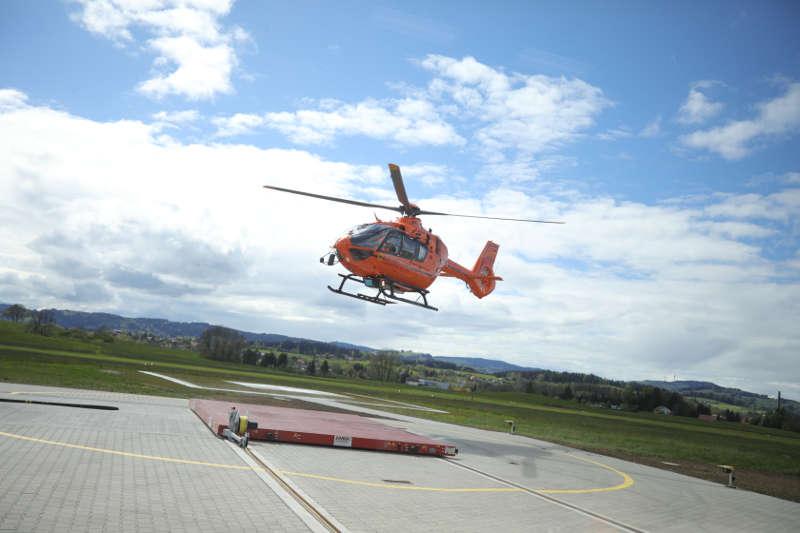Landung des Zivilschutz-Hubschraubers (Foto: Taheri/BBK)