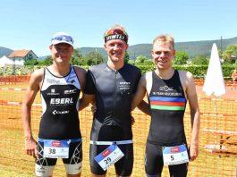 Die Erst- bis Drittplatzierten: v.l.: Julian Erhard, Frederik Henes und Malte Plappert (Foto: PIX-Sportfotos)