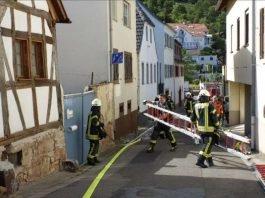 Brand in der Grasgasse (Foto: Feuerwehr Neustadt)