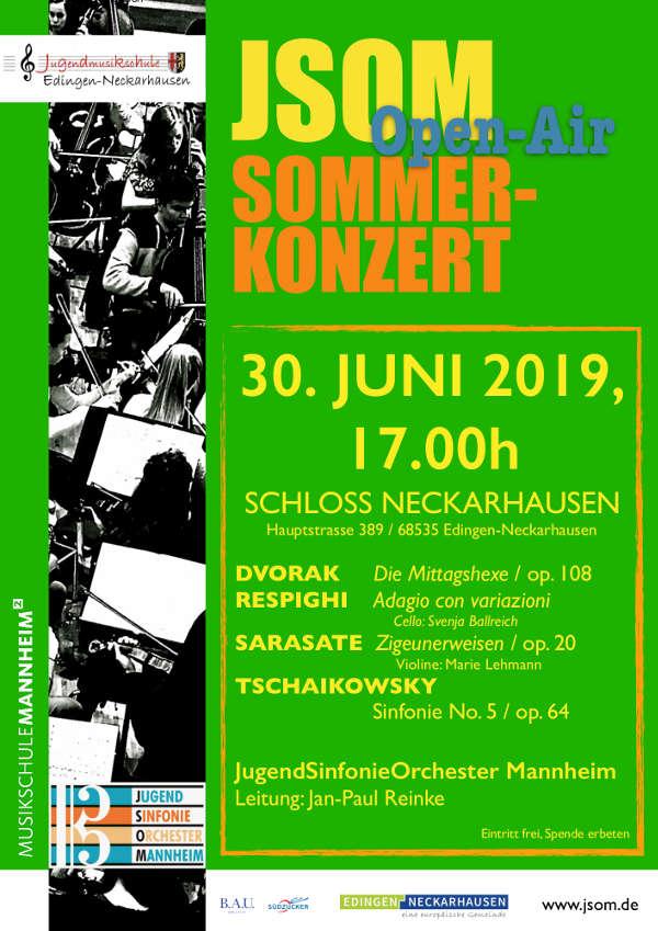 Sommerkonzert Neckarhausen Plakat