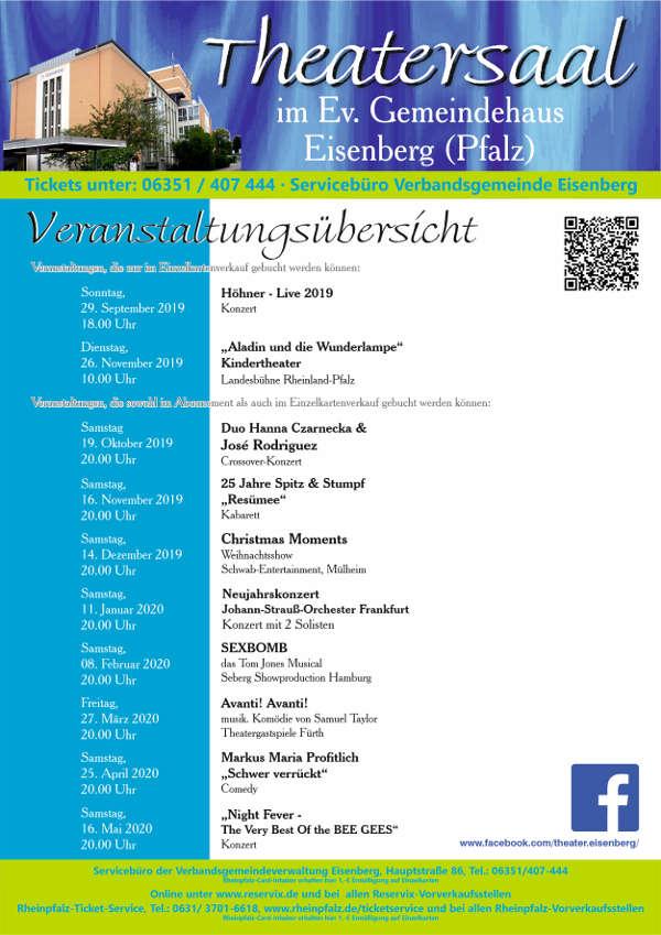 Veranstaltungsübersicht Ev. Gemeindehaus Eisenberg