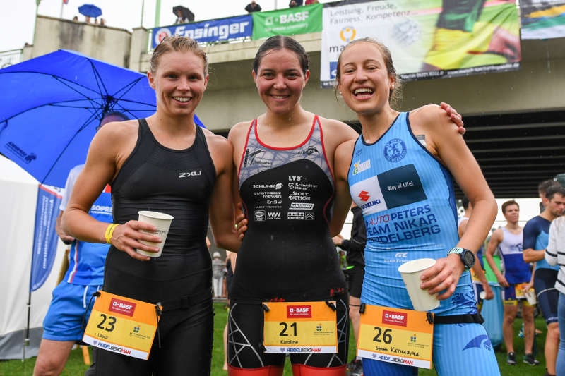 v.l.: Katharina Grabinger, Karoline Brüstle und Laura Jansen (Foto: PIX Sportfotos)