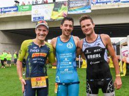 v.l.: Sebastian Kienle, Maximilian Saßerath und Julian Ehrhardt (Foto: PIX-Sportfotos)