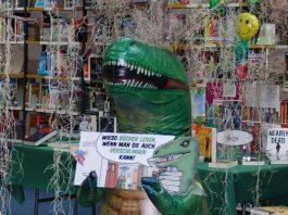 Der Dino wurde während der Öffnungszeiten gestohlen (Foto: Stadtverwaltung Neustadt)