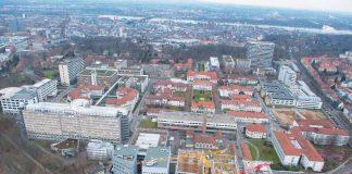 Die Universitätsmedizin Mainz entwickelt sich auch baulich weiter; Foto: Peter Pulkowski (Universitätsmedizin Mainz)