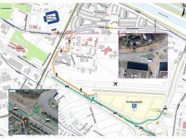 Der Fußweg vom Parkplatz P20 zum Stadion (Quelle: Stadt Mannheim)