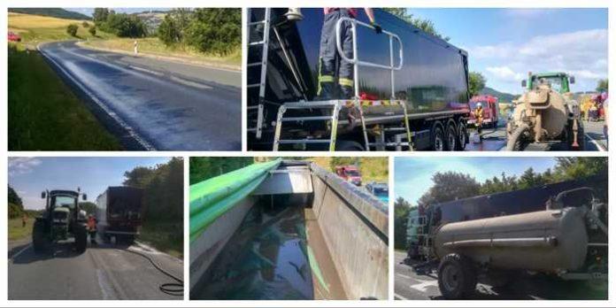 L3331: Gülleaustritt nach Lastwagendefekt