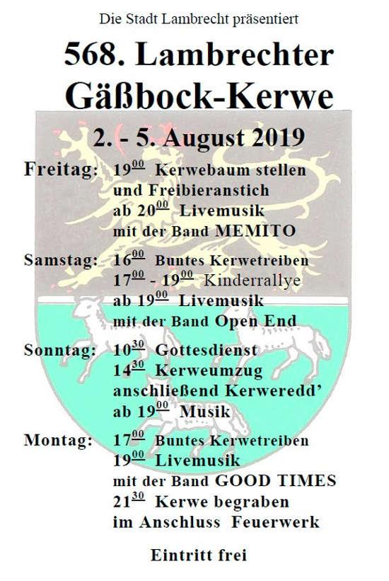 Lambrechter Gäßbock-Kerwe 2019