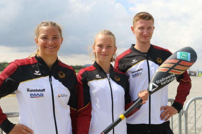 v.l.: EM-Teilnehmer Greta Köszeghy, Gesine Ragwitz und Jan Bechtold (Foto: Rheinbrüder Karlsruhe)