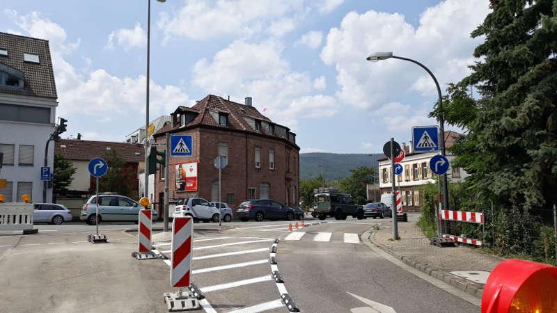 Neu angebrachte Markierungen (Foto: Stadtverwaltung Neustadt)
