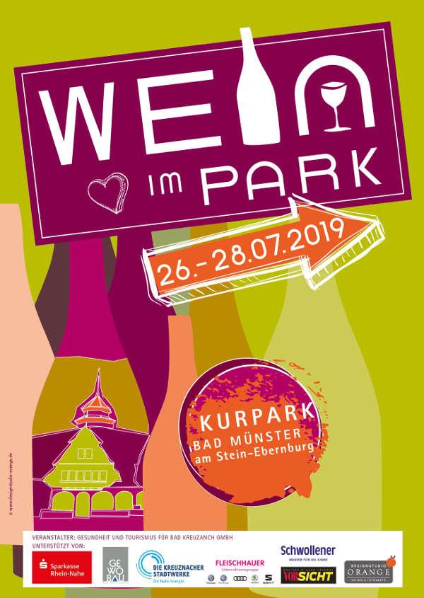 Plakat Wein im Park (Quelle: Gesundheit und Tourismus Bad Kreuznach GmbH)