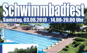 Plakat Schwimmbadfest 2019