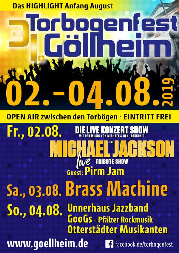 Programm Torbogenfest (Quelle: Ortsgemeinde Göllheim)