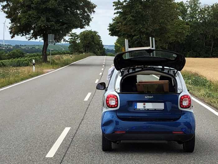 Möbeltransport mit dem Smart