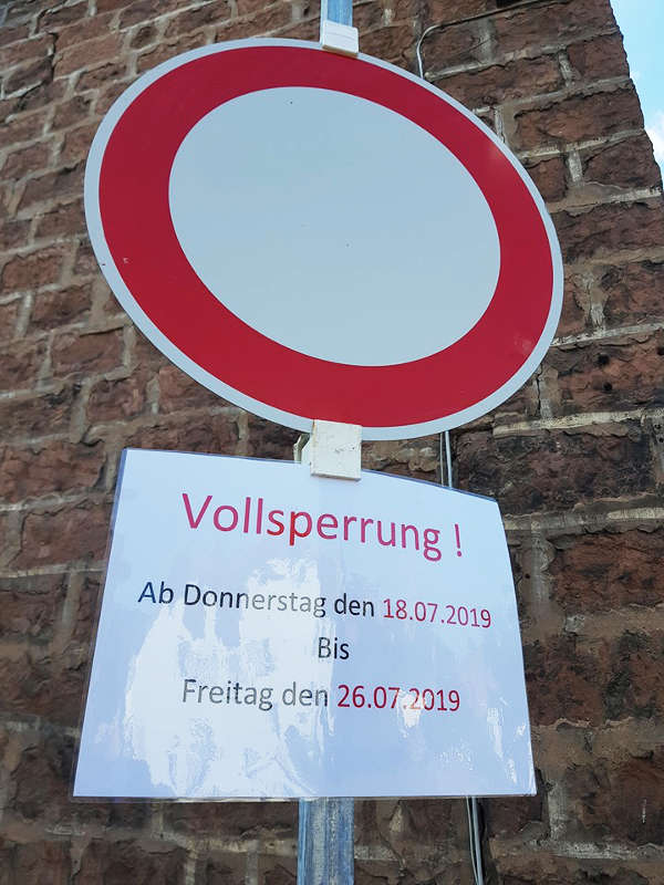 Sperrung Färberstraße