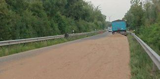 Weizen auf der L529 (Foto: Polizei RLP)
