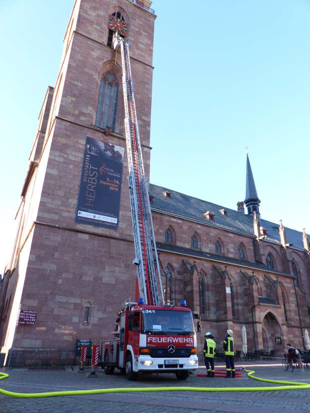 Zum Glück nur eine Übung (Foto: Feuerwehr Neustadt)