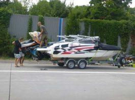 Überladenes Boot