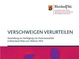 """Plakat zur Ausstellung """"Verschweigen – Verurteilen"""""""