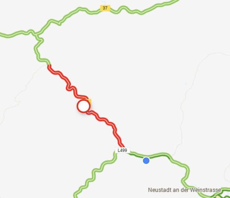 B39 - Neidenfels Weidenthal gesperrt